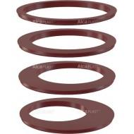 Alcaplast Wkładka rury spustowej, zestaw – czerwona AGV900R