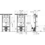 Alcaplast Jádromodul - Podtynkowy system instalacyjny z wentylacją do suchej zabudowy AM102/1120V