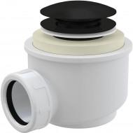 Alcaplast Syfon brodzikowy click/clack, czarny-mat, A465BLACK-50