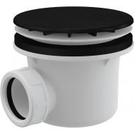 Alcaplast Syfon brodzikowy, korek czarny-mat, A49BLACK