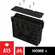 Alcaplast Odwodnienie zewnętrzne studzienka dla AVZ104 z obramowaniem z tworzywa, ruszt z tworzywa (A15), AVZ104R-R401