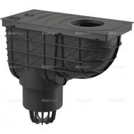 Alcaplast Wpust deszczowy uniwersalny 300×155/110 mm dolny, czarny, AGV1