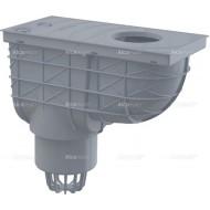 Alcaplast Wpust deszczowy uniwersalny 300×155/110 mm, dolny, szary, AGV1S