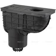 Alcaplast Wpust deszczowy uniwersalny 300×155/125 mm, dolny, czarny, AGV2