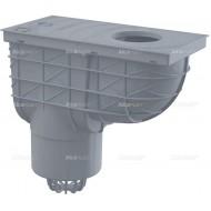 Alcaplast Wpust deszczowy uniwersalny 300×155/125 mm, dolny, szary, AGV2S