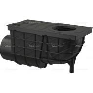 Alcaplast Wpust deszczowy uniwersalny 300×155/110 mm, boczny, czarny, AGV3