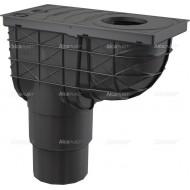 Alcaplast Wpust deszczowy uniwersalny 300×155/125/110 mm, dolny, czarny, AGV4