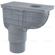 Alcaplast Wpust deszczowy uniwersalny 300×155/125/110 mm, dolny, szary, AGV4S