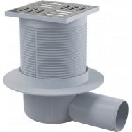 Alcaplast Kratka ściekowa 105x105/50 mm, odpływ boczny, kratka nierdzewna, syfon mokry, APV1