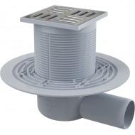 Alcaplast Kratka ściekowa 105x105/50 mm, odpływ boczny, kratka nierdzewna, syfon mokry, APV1311