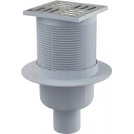 Alcaplast Kratka ściekowa 105x105/50 mm, odpływ pionowy, kratka nierdzewna, syfon mokry, APV2