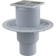 Alcaplast Kratka ściekowa 105x105/50/75 mm, odpływ pionowy, kratka nierdzewna, syfon mokry, APV201