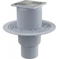 Alcaplast Kratka ściekowa 105x105/50/75 mm, odpływ pionowy, kratka nierdzewna, syfon mokry, APV2311