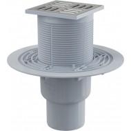 Alcaplast Kratka ściekowa 105x105/50/75 mm, odpływ pionowy, kratka nierdzewna, kombinowany syfon SMART, APV2321
