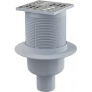 Alcaplast Kratka ściekowa 105x105/50 mm, odpływ pionowy, kratka nierdzewna, kombinowany syfon SMART, APV32