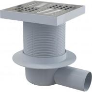 Alcaplast Kratka ściekowa 150x150/50 mm, odpływ boczny, kratka nierdzewna, syfon mokry, APV5411