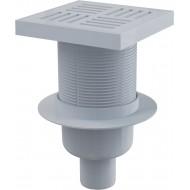 Alcaplast Kratka ściekowa 150x150/50 mm, odpływ pionowy, kratka szara, syfon mokry, APV6211
