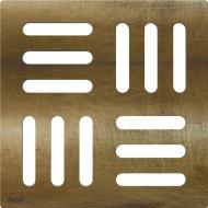 Alcaplast Kratka DESIGN 102×102 mm, mosiądz antyczny, MPV001-ANTIC
