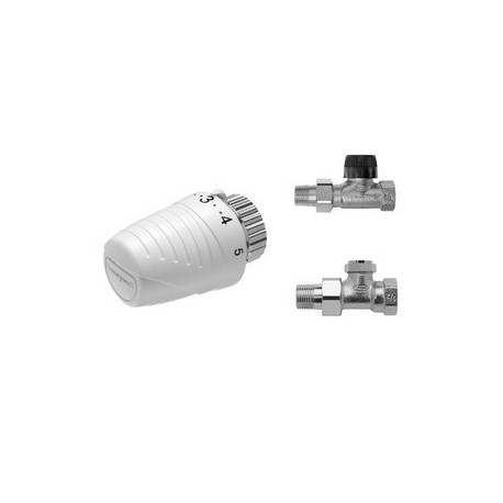 Honeywell komplet zaworów prosty głowica THERA 4 + zawór termostatyczny + zawór powrotny 3w1 VTL320DA15