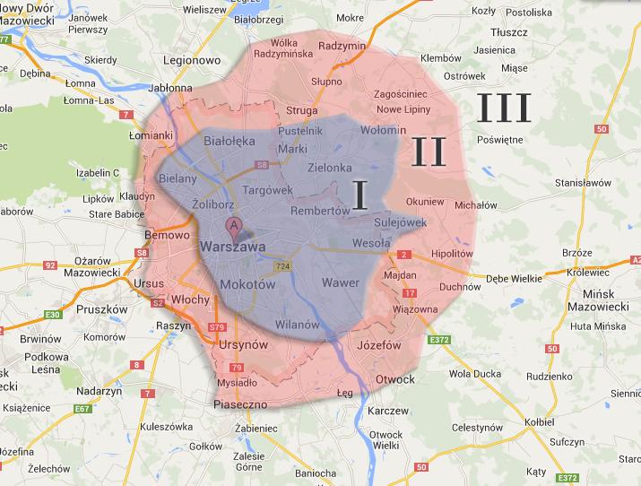 Mapa stref dostaw.